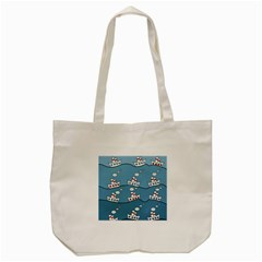 Boats Tote Bag (cream) by Valentinaart