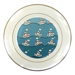Boats Porcelain Plates by Valentinaart