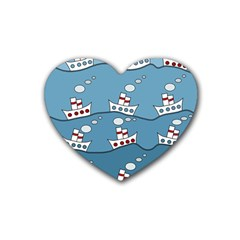 Boats Rubber Coaster (heart)  by Valentinaart