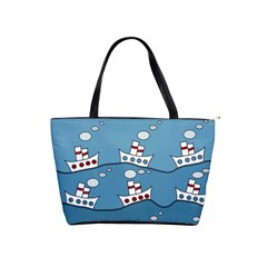 Boats Shoulder Handbags by Valentinaart