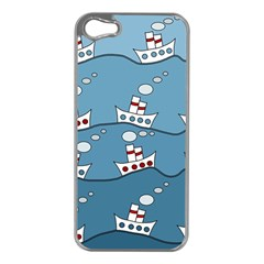 Boats Apple Iphone 5 Case (silver) by Valentinaart
