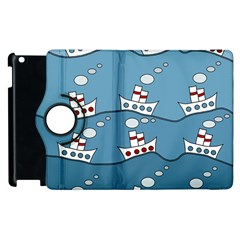 Boats Apple Ipad 3/4 Flip 360 Case by Valentinaart
