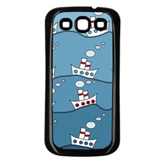 Boats Samsung Galaxy S3 Back Case (black)