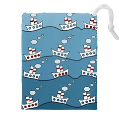 Boats Drawstring Pouches (xxl) by Valentinaart