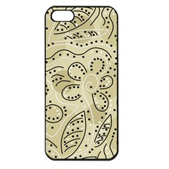 Floral Decor  Apple Iphone 5 Seamless Case (black) by Valentinaart