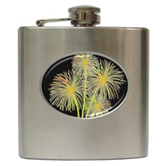 Dandelions Hip Flask (6 Oz) by Valentinaart