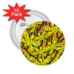 Bees 2 25  Buttons (10 Pack)  by Valentinaart
