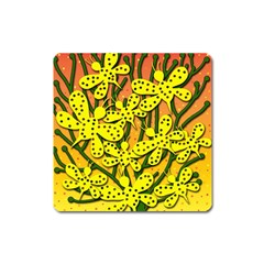 Bees Square Magnet by Valentinaart
