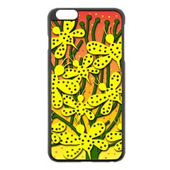 Bees Apple Iphone 6 Plus/6s Plus Black Enamel Case by Valentinaart