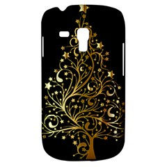 Decorative Starry Christmas Tree Black Gold Elegant Stylish Chic Golden Stars Samsung Galaxy S3 Mini I8190 Hardshell Case by yoursparklingshop