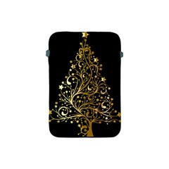 Decorative Starry Christmas Tree Black Gold Elegant Stylish Chic Golden Stars Apple Ipad Mini Protective Soft Cases by yoursparklingshop