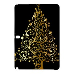 Decorative Starry Christmas Tree Black Gold Elegant Stylish Chic Golden Stars Samsung Galaxy Tab Pro 12 2 Hardshell Case by yoursparklingshop