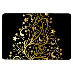 Decorative Starry Christmas Tree Black Gold Elegant Stylish Chic Golden Stars Ipad Air Flip by yoursparklingshop