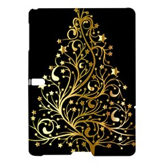 Decorative Starry Christmas Tree Black Gold Elegant Stylish Chic Golden Stars Samsung Galaxy Tab S (10 5 ) Hardshell Case  by yoursparklingshop