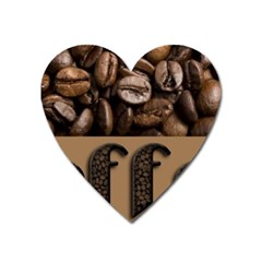 Funny Coffee Beans Brown Typography Heart Magnet by yoursparklingshop
