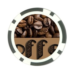Funny Coffee Beans Brown Typography Poker Chip Card Guards