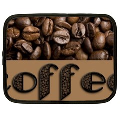 Funny Coffee Beans Brown Typography Netbook Case (xxl)  by yoursparklingshop