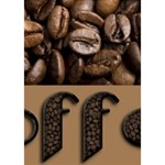 Funny Coffee Beans Brown Typography You Rock 3D Greeting Card (7x5) Inside