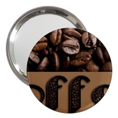 Funny Coffee Beans Brown Typography 3  Handbag Mirrors by yoursparklingshop