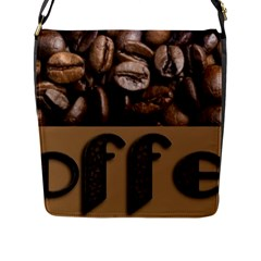 Funny Coffee Beans Brown Typography Flap Messenger Bag (l)  by yoursparklingshop