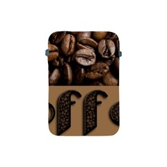 Funny Coffee Beans Brown Typography Apple Ipad Mini Protective Soft Cases by yoursparklingshop