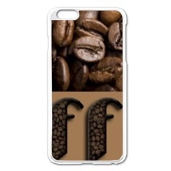 Funny Coffee Beans Brown Typography Apple Iphone 6 Plus/6s Plus Enamel White Case by yoursparklingshop