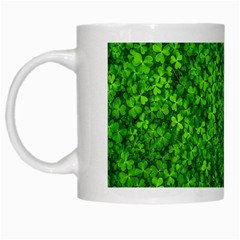 Shamrock Clovers Green Irish St  Patrick Ireland Good Luck Symbol 8000 Sv White Mugs by yoursparklingshop