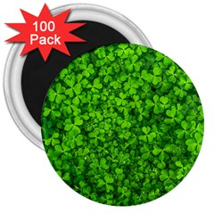 Shamrock Clovers Green Irish St  Patrick Ireland Good Luck Symbol 8000 Sv 3  Magnets (100 Pack) by yoursparklingshop