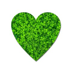 Shamrock Clovers Green Irish St  Patrick Ireland Good Luck Symbol 8000 Sv Heart Magnet by yoursparklingshop