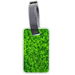 Shamrock Clovers Green Irish St  Patrick Ireland Good Luck Symbol 8000 Sv Luggage Tags (one Side)  by yoursparklingshop