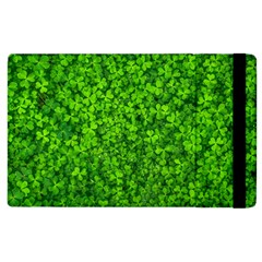 Shamrock Clovers Green Irish St  Patrick Ireland Good Luck Symbol 8000 Sv Apple Ipad 2 Flip Case by yoursparklingshop