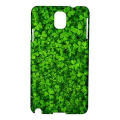 Shamrock Clovers Green Irish St  Patrick Ireland Good Luck Symbol 8000 Sv Samsung Galaxy Note 3 N9005 Hardshell Case by yoursparklingshop
