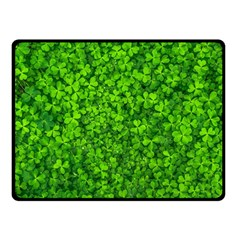 Shamrock Clovers Green Irish St  Patrick Ireland Good Luck Symbol 8000 Sv Double Sided Fleece Blanket (small)  by yoursparklingshop
