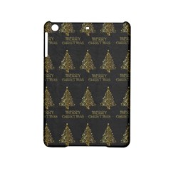 Merry Christmas Tree Typography Black And Gold Festive Ipad Mini 2 Hardshell Cases by yoursparklingshop