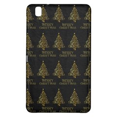 Merry Christmas Tree Typography Black And Gold Festive Samsung Galaxy Tab Pro 8 4 Hardshell Case by yoursparklingshop