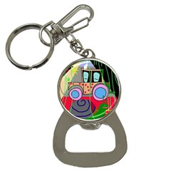 Tractor Bottle Opener Key Chains by Valentinaart