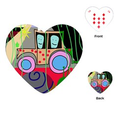 Tractor Playing Cards (heart)