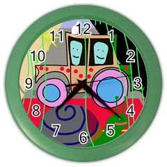 Tractor Color Wall Clocks by Valentinaart