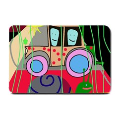 Tractor Small Doormat  by Valentinaart