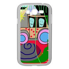 Tractor Samsung Galaxy Grand Duos I9082 Case (white) by Valentinaart