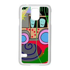 Tractor Samsung Galaxy S5 Case (white) by Valentinaart