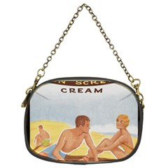 Vintage Summer Sunscreen Advertisement Chain Purses (two Sides)