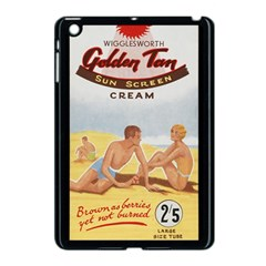 Vintage Summer Sunscreen Advertisement Apple Ipad Mini Case (black) by yoursparklingshop
