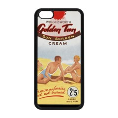 Vintage Summer Sunscreen Advertisement Apple Iphone 5c Seamless Case (black) by yoursparklingshop