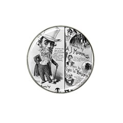 Vintage Song Sheet Lyrics Black White Typography Hat Clip Ball Marker by yoursparklingshop