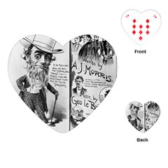 Vintage Song Sheet Lyrics Black White Typography Playing Cards (heart)  by yoursparklingshop