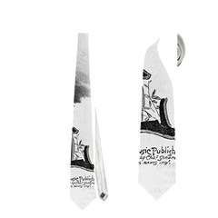 Vintage Song Sheet Lyrics Black White Typography Neckties (one Side)  by yoursparklingshop