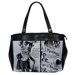 Vintage Song Sheet Lyrics Black White Typography Office Handbags by yoursparklingshop