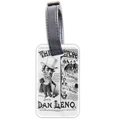Vintage Song Sheet Lyrics Black White Typography Luggage Tags (one Side)  by yoursparklingshop