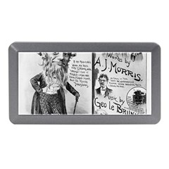 Vintage Song Sheet Lyrics Black White Typography Memory Card Reader (mini) by yoursparklingshop